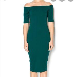 Off shoulder sheath dress